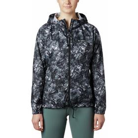 Columbia Flash Forward Printed Windbreaker Jacket Women, black rubbed texture